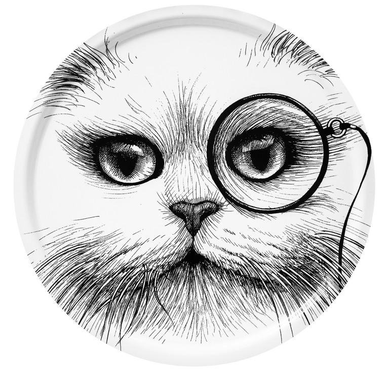 Supersize Cat Monocle White
